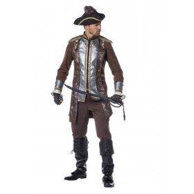 Fashionable Piraat De Luxe Man Kostuum