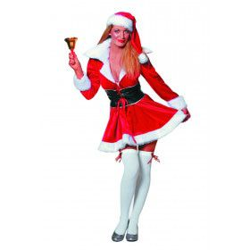 Miss Santa Snowflake Fluweel Vrouw Kostuum