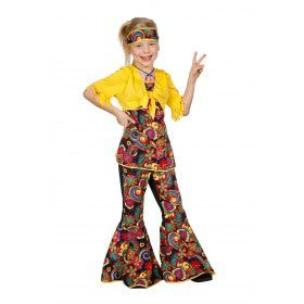 Happy Hippie Meisje Kostuum