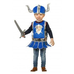 Ridder Blauw Helm Jongen Kostuum