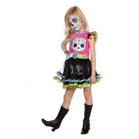 Day Of The Dead Meisje Kostuum