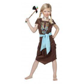 Indiaanse Potawatomi Luxe Meisje Kostuum
