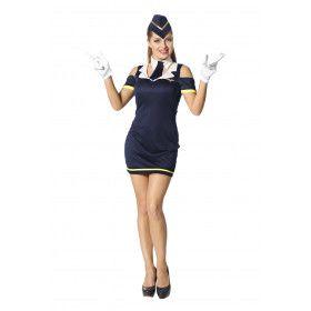 Too High To Fly Sexy Stewardess Vrouw Kostuum