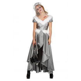 Groenlandse IJsprinses Grijs Zilver Vrouw Kostuum