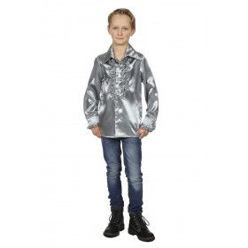 Disco Love Ruches Blouse Zilver Kind