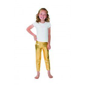 Gouden Glitter Legging Disco Prinses Meisje