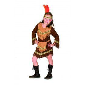 Bevallige Bizon Indiaan Nevada Meisje Kostuum