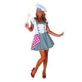 Lekker Potje Kokkin Restaurant Vrouw Kostuum