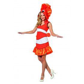 Driebandanemoonvis Clownvis Nemo Vrouw Kostuum