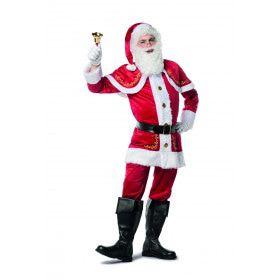 Kerstman Met Goudddraad Geborduurd Kostuum