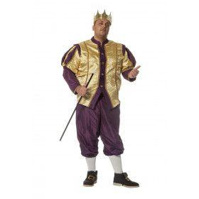 Smaakvol Barok Koning Man Kostuum