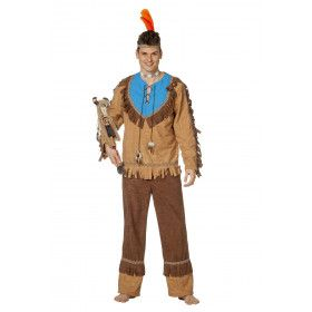 Indiaan Yellowknives Stam Man Kostuum