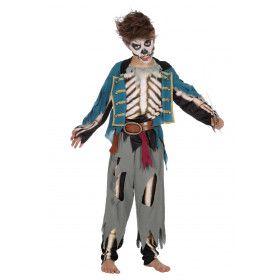 1 Storm Teveel Zombie Piraat Jongen Kostuum