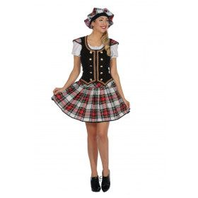 Schotse Horlepiep Danseres Morgan Vrouw Kostuum