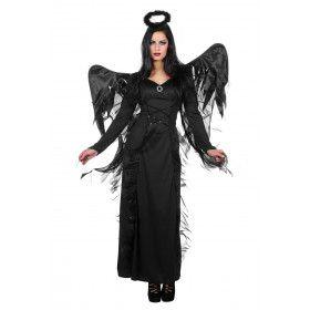 Zwarte Engel Verdoemenis Vrouw Kostuum