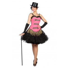 Pretty In Pink Roze Showgirl Theater Vrouw