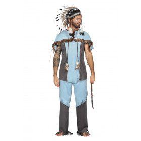 Hupa Hoopa Indiaan Wilde Westen Man Kostuum