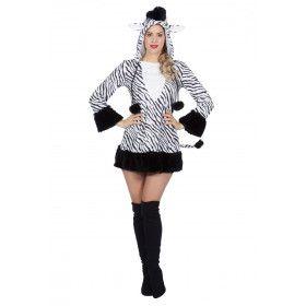 Populaire Prooi Voor De Roofdieren Zebra Vrouw Kostuum