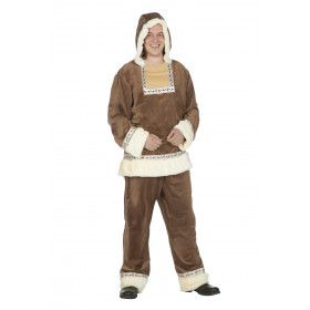 Groenlands Kalaallit Eskimo Man Kostuum