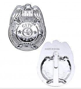 Politie Penning Badge Zilver