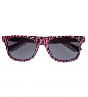 Bril Zebra Roze
