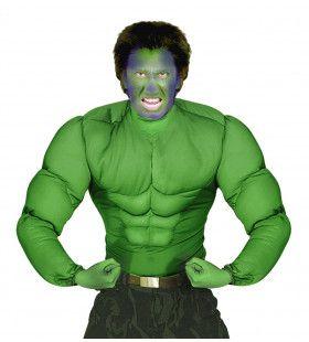 Machtig Spierenshirt Groen Volwassen