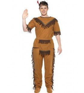 Trotse Dappere Indiaan Man Kostuum