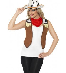 Linedancer Girl Cowboy Kit Vrouw Kostuum