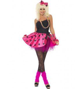 Miss Eighties Videoclip Dame Vrouw Kostuum