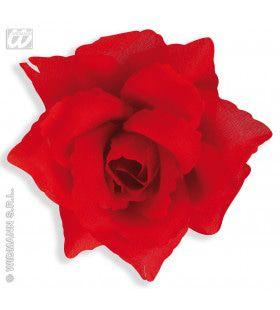 Haarclip Rode Roos, 10 Cm