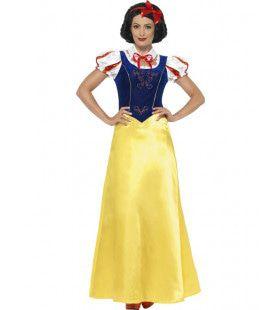 Blauw-Gele Sneeuwwitje Meisje Kostuum