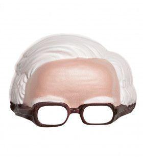 Masker Met Bril En Witte Haardos