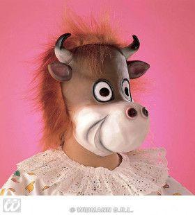 Masker Stier Met Pluche Haar