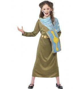 Horrible Histories Boudica De Welshe Koningin Meisje Kostuum