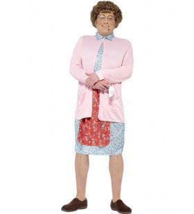 Mrs Brown Keurige Huisvrouw Man Kostuum