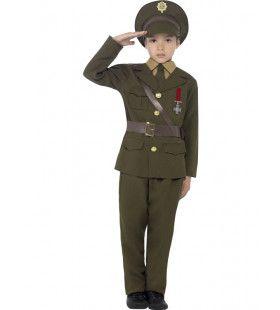 Stijlvolle Legerofficier Jongen Kostuum