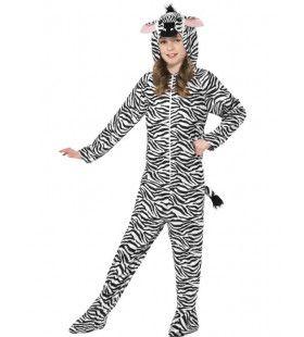 Aaibare Zebra Kostuum