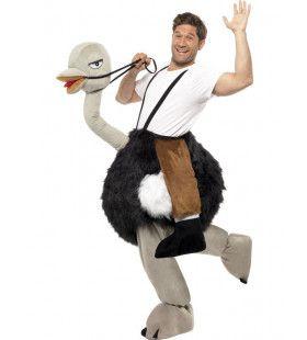 Rijden Op Een Struisvogel Kostuum