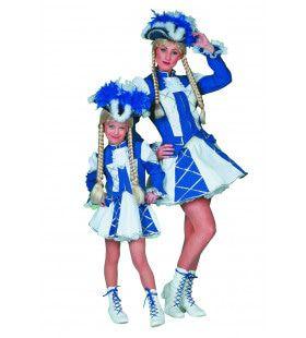 Showmeisje Dansmarietje Kind Blauw Kostuum
