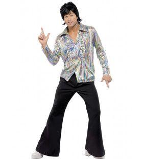 Hallucinerend 70s Retro Man Kostuum