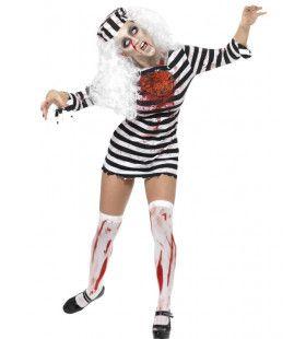 Dame Zombie Gevangene Vrouw Kostuum