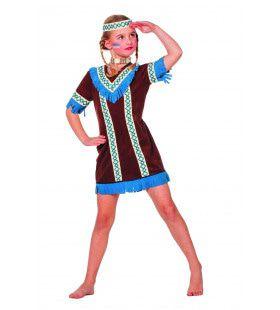 Blauwe Kraai Indiaanse Tenderfoot ( Meisje) Kostuum