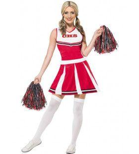 Flexibele Cheerleader Vrouw Kostuum