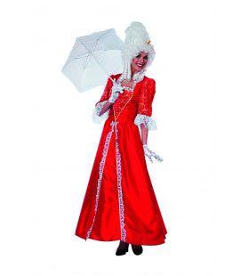 Rococo Markiezin Taft Vrouw Kostuum