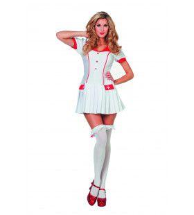 Lizzy De Verpleegster Met Plooirokje Vrouw Kostuum