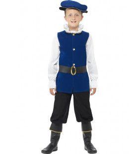 Victoriaanse Tudor Jongen Kostuum