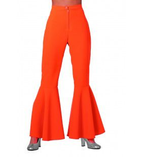 Dancing Orange Hippie Broek Bi-Stretch