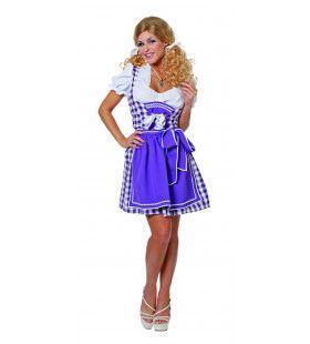 Paarse Dirndl Brigitte Das Biermadchen Vrouw Kostuum