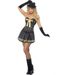 Boutique Burlesque Maffia Dame Vrouw Kostuum
