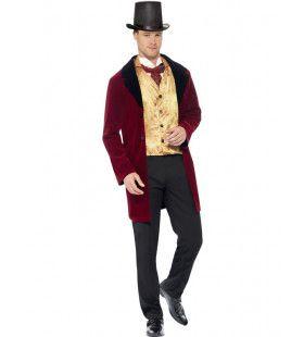 Edwardiaanse Heer Luxe Man Kostuum